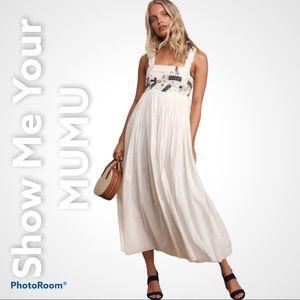 S.M.Y  MUMU M dawn white patchwork maxi dress